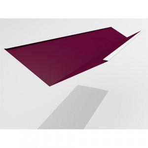 Ендова нижняя Интерпрофиль 2.0м 290х290мм (0.55) Стальной бархат RAL 3005