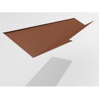 Ендова нижняя Интерпрофиль 2.0м 290х290мм (0.55) Стальной бархат
