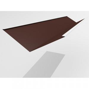 Ендова нижняя Интерпрофиль 2.0м 290х290мм (0.55) Стальной бархат RAL 8017