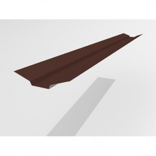 Ендова верхняя Интерпрофиль 2.0м 85х80х85мм (0.55) Стальной кашемир RAL 8017