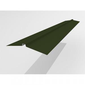 Конек широкий Интерпрофиль 2.0м 165х25х165мм (0.45) PE RAL 6415