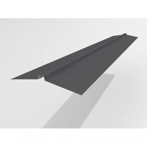 Конек широкий Интерпрофиль 2.0м 165х25х165мм (0.55) Стальной шелк RAL 7024