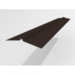 Конек широкий Интерпрофиль 2.0м 165х25х165мм (0.55) Стальной шелк RAL 8019