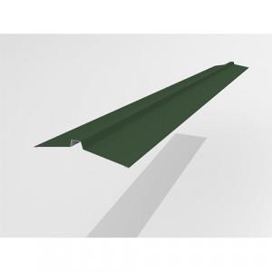 Конек узкий Интерпрофиль 2.0м 113х25х113мм (0.45) PE RAL 6005