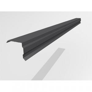 Ветровой профиль Интерпрофиль 2.0м 100х90мм (0.55) Стальной бархат RAL 7024