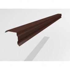 Ветровой профиль Интерпрофиль 2.0м 100х90мм (0.55) Стальной кашемир RAL 8017