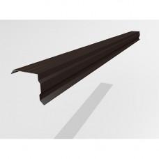 Ветровой профиль Интерпрофиль 2.0м 100х90мм (0.55) Стальной шелк RAL 8019