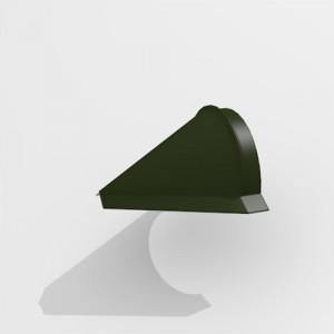 Заглушка конька конусная Интерпрофиль (0.45) PE RAL 6415