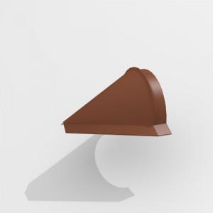 Заглушка конька конусная Интерпрофиль (0.55) Стальной бархат RAL 8004