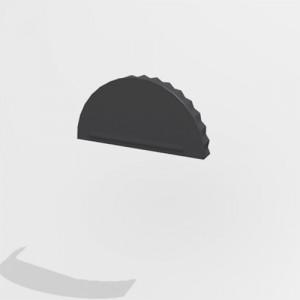 Заглушка конька Интерпрофиль (0.55) Стальной шелк RAL 7024