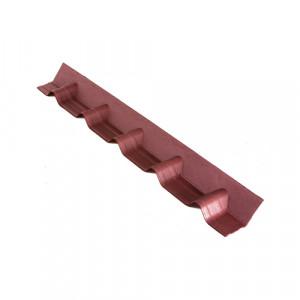 Конек Ондувилла покрывающий фартук (основание) 1002х140 мм Красный