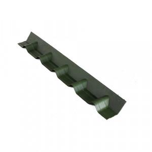 Конек Ондувилла покрывающий фартук (основание) 1002х140 мм Зеленый
