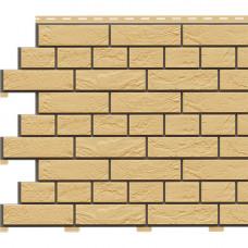 Фасадная панель Доломит Кирпич Славянка 1850х210 мм Желтый