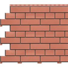 Фасадная панель Доломит Кирпич 1850х210 мм Красный
