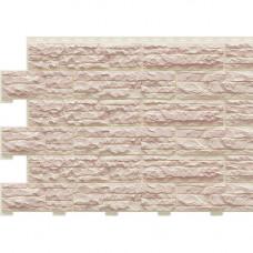 Фасадная панель Доломит Скалистый Риф Люкс 2000х210 мм Жемчуг