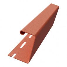 J-профиль для термосайдинга 40 мм Доломит 3000 мм Красный