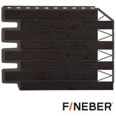Фасадная панель FineBer Дачный Баварский кирпич 595х795 мм Темно-коричневый
