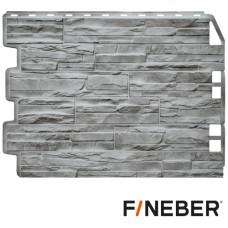 Фасадная панель FineBer Дачный Скол 3D-Facture 590х790 мм Светло-серый