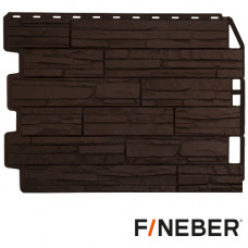 Фасадная панель FineBer Дачный Скол 590х790 мм Коричневый