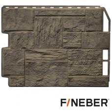 Фасадная панель FineBer Дачный Туф 3D-Facture 590х790 мм Дымчатый