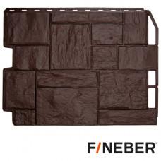Фасадная панель FineBer Дачный Туф 590х790 мм Коричневый