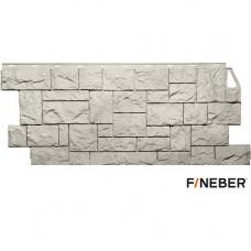 Фасадная панель FineBer Камень дикий 1137х463 мм Жемчужный