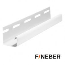 J-профиль FineBer цоколь 3.0 м Белый