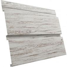 Сайдинг металлический Квадро Брус Grand Line Colority Print 0.45 мм Snow Wood