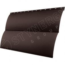 Сайдинг металлический Блок-Хаус Stynergy Стальной Бархат 0.5 мм RAL 8017