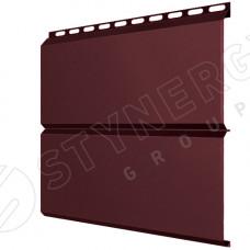 Сайдинг металлический ЕвроБрус Stynergy Стальной Бархат 0.5 мм RAL 3005