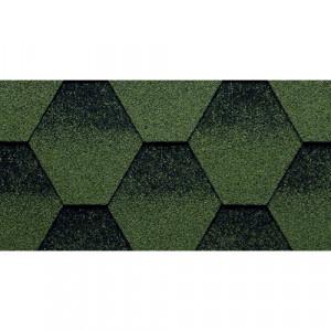 Гибкая черепица Kerabit K+ Зелено-черный
