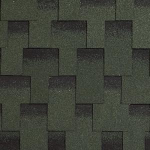 Гибкая черепица Kerabit L+ Зелено-черный