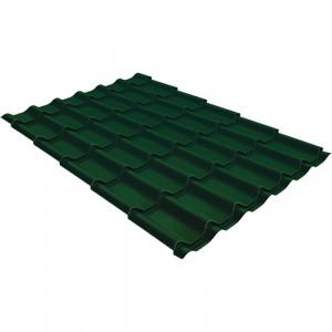 Металлочерепица Grand Line Classic Quarzit Lite Зеленый