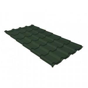 Металлочерепица Grand Line Kamea GreenCoat Pural Зеленый