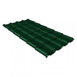 Металлочерепица Grand Line Kamea Quarzit Зеленый