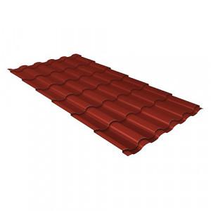 Металлочерепица Grand Line Kredo GreenCoat Pural Красный