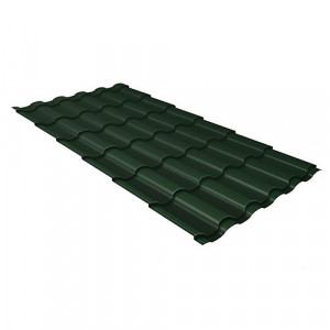 Металлочерепица Grand Line Kredo GreenCoat Pural Зеленый