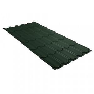 Металлочерепица Grand Line Kvinta Plus GreenCoat Pural Зеленый