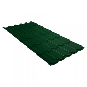 Металлочерепица Grand Line Kvinta Plus Quarzit Lite Зеленый