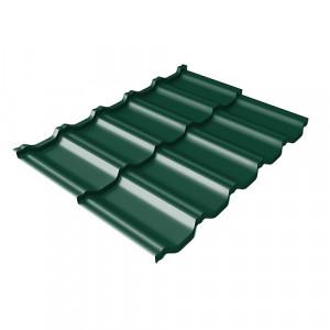 Металлочерепица Grand Line Kvinta Uno Drap Зеленый