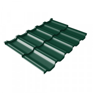 Металлочерепица Grand Line Kvinta Uno Quarzit Lite Зеленый