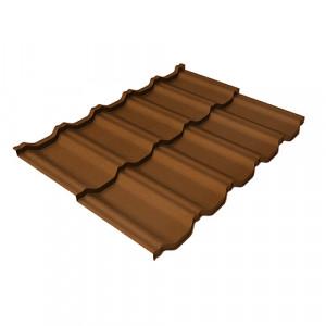 Металлочерепица Grand Line Kvinta Uno Quarzit Светло-коричневый