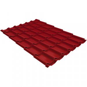 Металлочерепица Grand Line Modern (0.4) Pe Красный