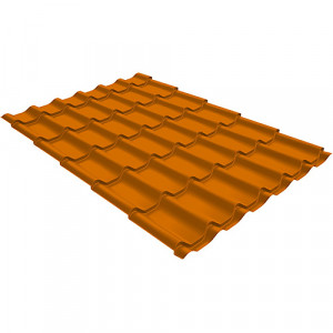 Металлочерепица Grand Line Modern (0.45) Pe Светло-коричневый