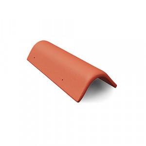Боковая универсальная черепица Braas Эво 420 мм Красный