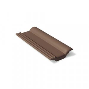 Половинчатая черепица Braas Франкфуртская 420х180 мм Темно-коричневый