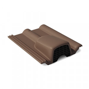 Вентиляционная черепица Braas Франкфуртская 420х330 мм Темно-коричневый