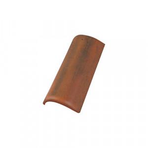 Коньковая черепица с зажимом Braas Ревива 450 мм Антик красный
