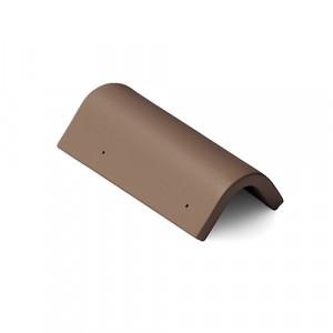 Боковая универсальная черепица Braas Таунус 420 мм Темно-коричневый