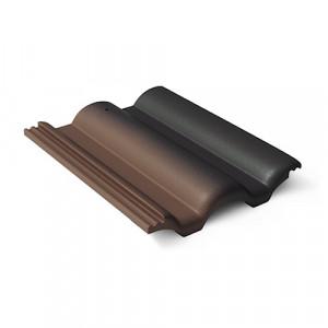 Рядовая черепица Braas Таунус 420х330 мм Антик темно-коричневый